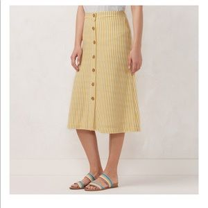 LC Lauren Conrad button front Midi skirt